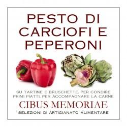 Pesto di carciofi e peperoni