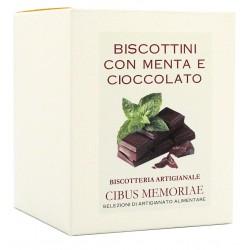 Biscottini con menta e cioccolato