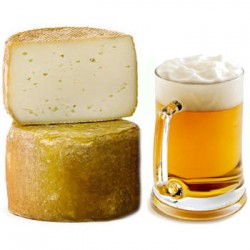 Cow cheese with beer
