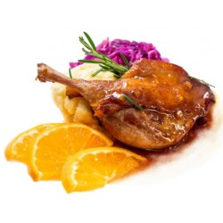 Duck in orange sauce ragout