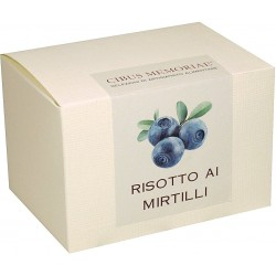 Risotto with blueberries
