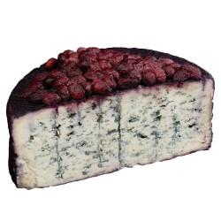 Blu affinato in vino passito rosso e mirtilli