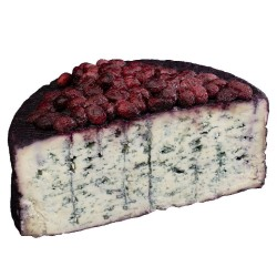 Blue cheese aged in red passito wine